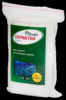 Серветки вологі для LCD / TFT і плазмових екранів (запасні), 100шт. 30674