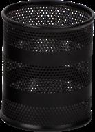 Підставка для ручок кругла BUROMAX, металева чорний BM.6203-01