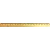 Лінійка дерев'яна 30 см (шовкографія)