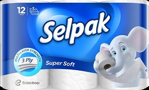 Папір туал. целюлоз., по 12 рул., 3-х шар., білий SELPAK  sp.04508