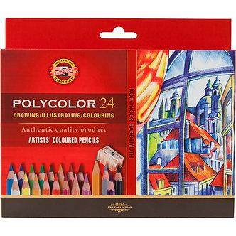 Олівці кольор. художні POLYCOLOR, 24 кол., карт. уп. 3834