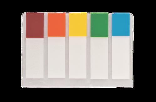 Закладки пластик NEON 45x12мм, 5х20 арк, половинки, BM.2305-98
