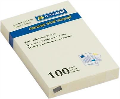 Блок паперу для нотаток 51 х 76мм, 100 аркушів