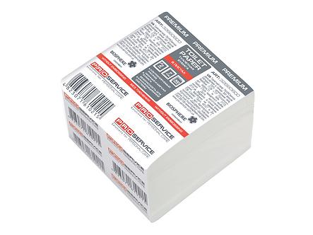 Папiр туал. листовий, целюлозний, 2-х шар., 300 шт (40шт/ящ)  pr.32660600