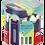 Thumbnail: Гумка ZAP в пластиковому футлярі, колір асорті   fc.PTF1130