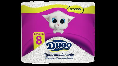 """Папір туалетний целюлозний """"Диво"""" Econom, 8 рул.  тп.де.8б"""