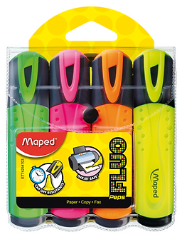 Текст-маркер FLUO PEPS Classic, набір 4 шт., бістер, асорті