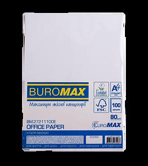 Папір офісний, EUROMAX, А4, 80г/м2, 100арк.  BM.27211100E