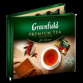 Набір пакетованого чаю асорті, 24 сорти по 4шт, 96 пакетів, GREENFIELD gf.106322