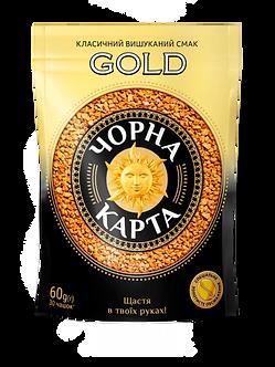 Кава розчинна Чорна Карта Gold, пакет, 130г Вигідна пропозиція ck.51557