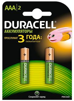 "Акумулятор AAA ""Duracell"" 750 mAh 2шт/упак s.38769"