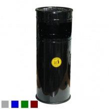 Урна-пепельница, оцинкованная, окрашенная, черная ,23,4х61, 25 л