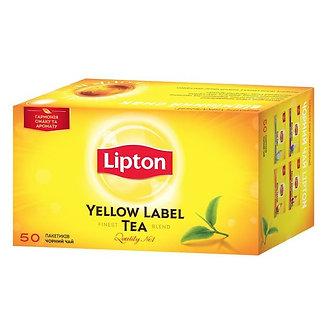 Чай чорний Lipton 50х2г, пакет