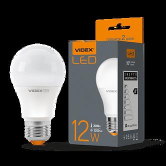 Лампа LED, 12W, E27, 3000К або 4100K, 220V, VIDEX  VL-A60e-1227