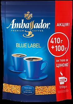 Кава розчинна Ambassador Blue Label, пакет 510г   am.52568