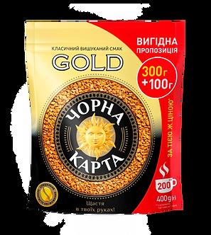 Кава розчинна Чорна Карта Gold, пакет 400г  ck.51051
