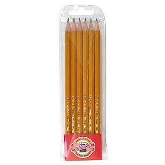 Набір з 6-ти технічних чорнографітних олівців  kh.1570.06