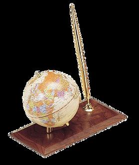 Глобус настільний з ручкою, горіх, тем.вишня 0910