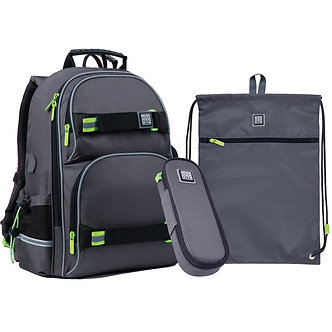 Набір рюкзак + пенал + сумка для взуття WONDER KITE   SET_WK21-702M