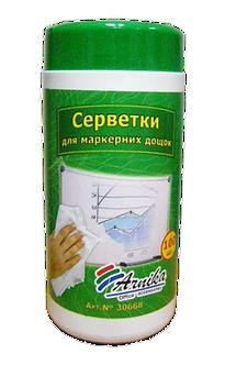 Серветки вологі для магнітно-маркерні дощок, 100шт.  30668