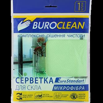 Серветка для скла, мікрофібра, BuroClean EuroStandart 30х30 см  10200125