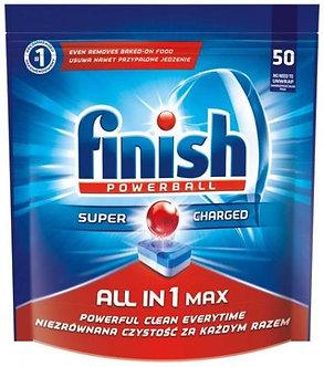 Таблетки All in1 для посудомийних машин FINISH 50шт/уп  fn.62359