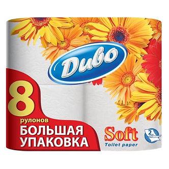 Папір туалетний целюлозна, на гільзі, 150 відривів 8шт/уп