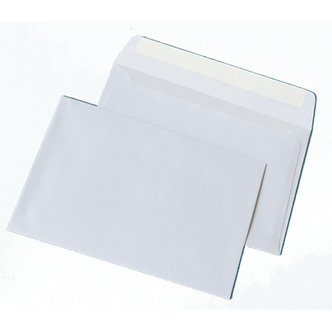 Конверт С5 (162х229мм) білий СКЛ, термоупак. 50 шт 3444-50