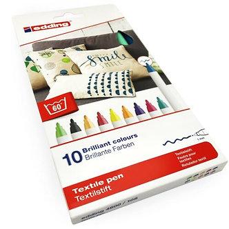 Маркер Textile Fashion 4600/10f 1 мм, набір 10 кол.