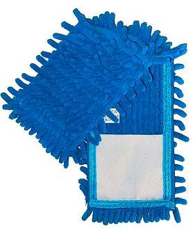 """Насадка змінна з мікрофібри шиньйон """"1000 пальців"""", блакитна  EF-1000-B"""