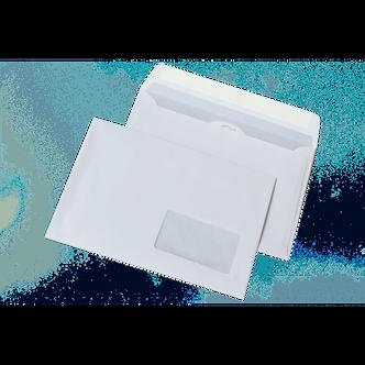 Конверт DL (110х220мм) білий СКЛ з вікном 45х90мм 2140