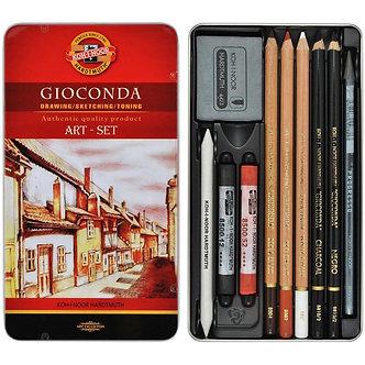 Набір художній GIOCONDA, 10 предметів,мет.уп. 8890
