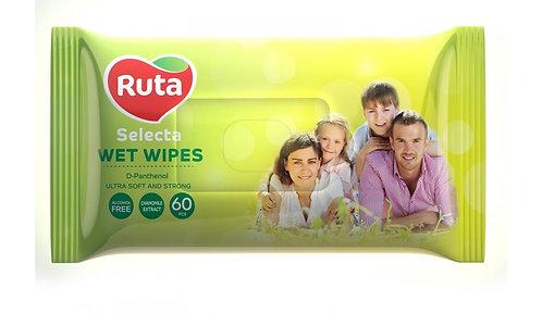 """Серветки вологі """"Ruta Selecta"""" великі 60 шт rt.92441"""