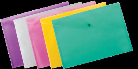 Папка-конверт А4 на кнопці, асорт BM3926