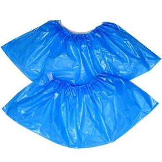 Бахіли поліетиленові блакитні, 50 пар/уп, BuroClean  10600300