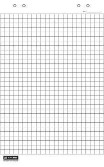 Блок паперу для фліпчартів, 30 аркушів, клітинка, 64 х 90см BM.2299