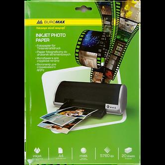 Фотопапір матовий, А4, 230 г/м², 20 аркушів BM.2225-6020