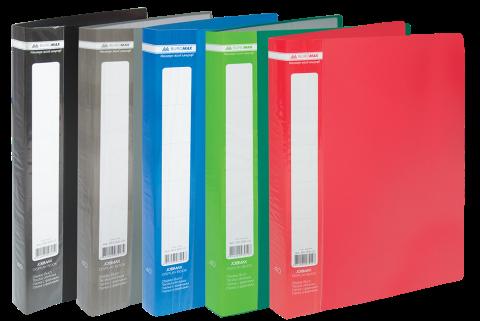 Папка пластикова з 60 файлами А4 JOBMAX,  BM.3621