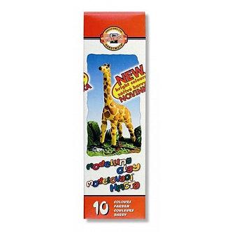 """Пластилін """"Жираф"""", 10 кол, 200 г. Карт. упаковка 131504"""