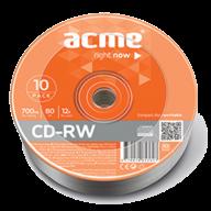 Диск CD-RW, 700Mb, 4-12х, Cake (10шт) d.002992