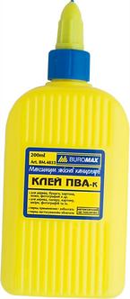 Клей ПВА BUROMAX 200 мл, ковпачок-дозатор BM4833