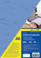 """Обкладинки картонна """"під шкіру"""" А4, 250г/м2, (50шт./уп.) колір асорті BM.0580"""