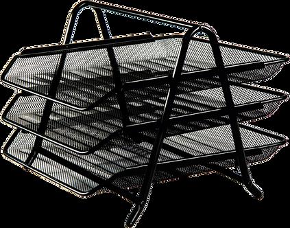 """Лоток для паперів горизонтальний """"3 в1"""" BUROMAX, металевий BM.6252"""