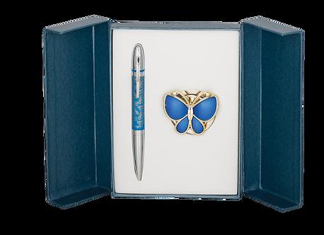 """Набір подарунковий """"Papillon"""": ручка (К) + гачок д/ сумки, LS.122010"""