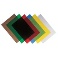 Обкладинки прозора А4 280 мкм, 100 шт/уп, колір асорті, матові f.53765