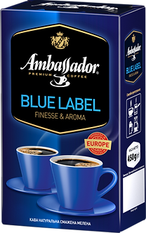 Кава мелена Ambassador Blue Label, вак.уп. 450г*12  am.52209