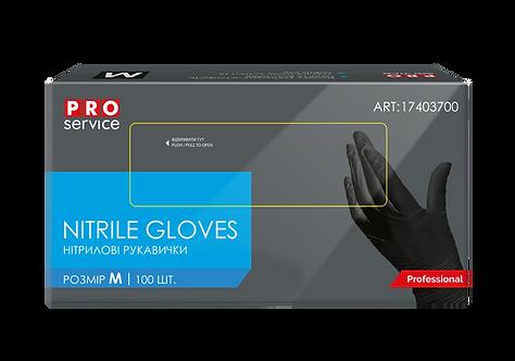 Рукавички нітрилові чорні Professional , 100 шт в уп., PRO SERVICE   pr.17403700