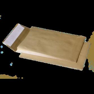 Конверт С4 (229х324мм) коричневий СКЛ з розширенням по вузькій стороні
