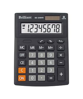 Калькулятор Brilliant BS-208NR, 8 розрядів