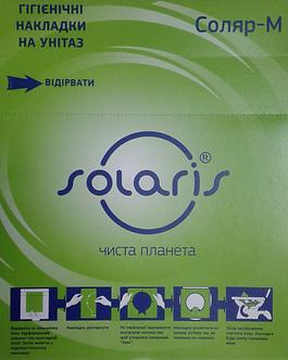 Гігієнічні накладки на унітаз, 200 шт., з целюлози, білі  Соляр-М-200